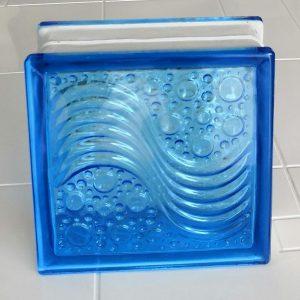 Cam Tuğla Deniz Dalgaı Mavi